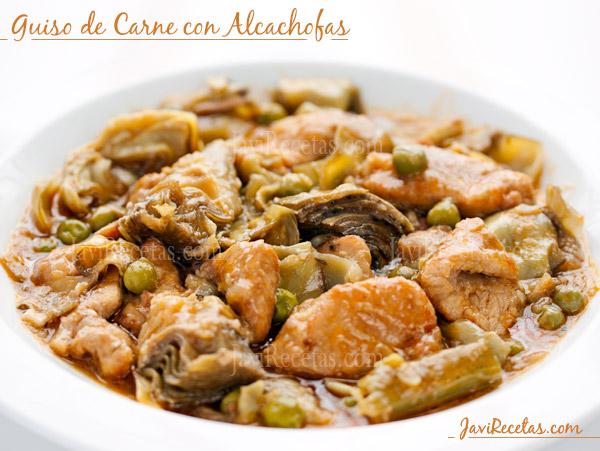 Guiso de carne con alcachofas for Como cocinar solomillo de pavo