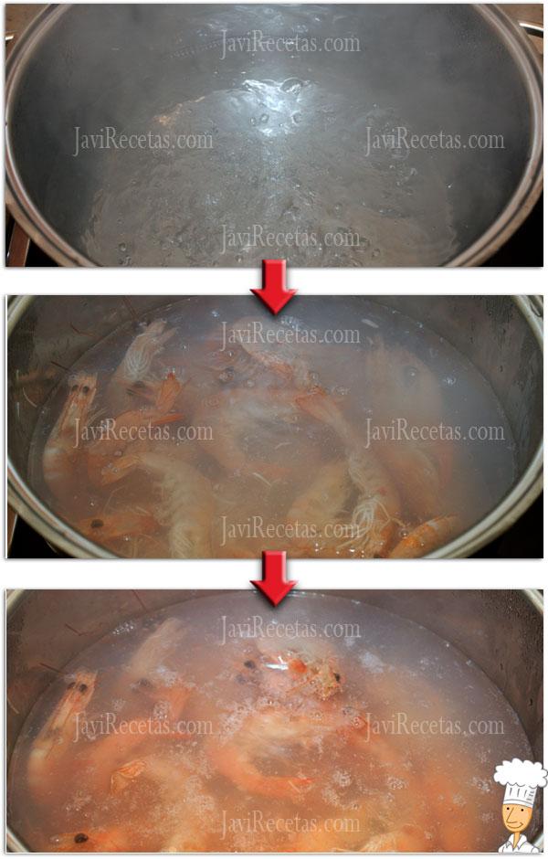 Como cocer langostinos