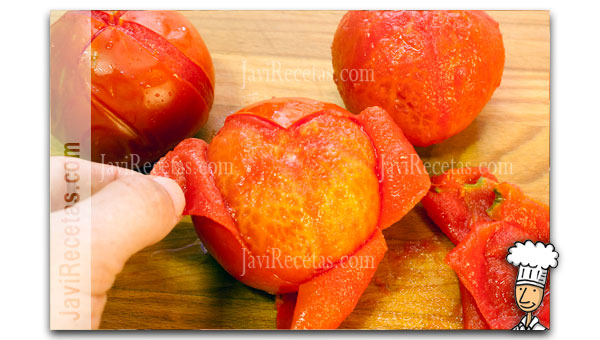 Quitar la piel de los tomates