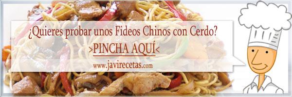 Fideos Chinos Fritos con Cerdo
