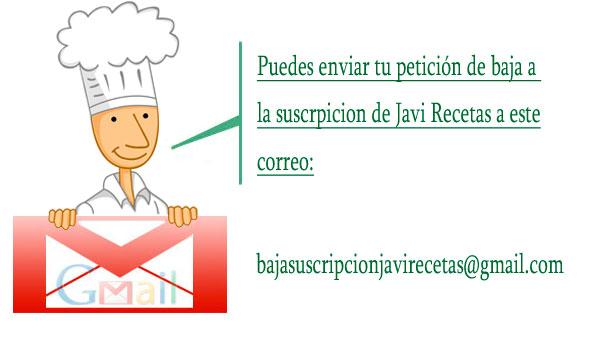 Correo de Javi Recetas