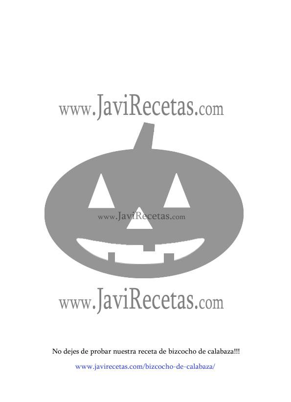 Plantilla de Calabaza de Halloween