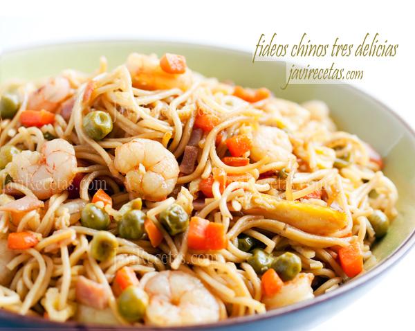 Recetas De Cocina China Faciles | Fideos Chinos Tres Delicias