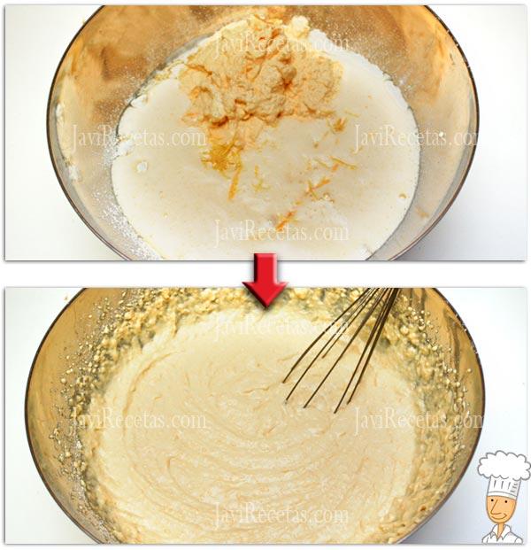Batir los Ingredientes de los Pastelitos