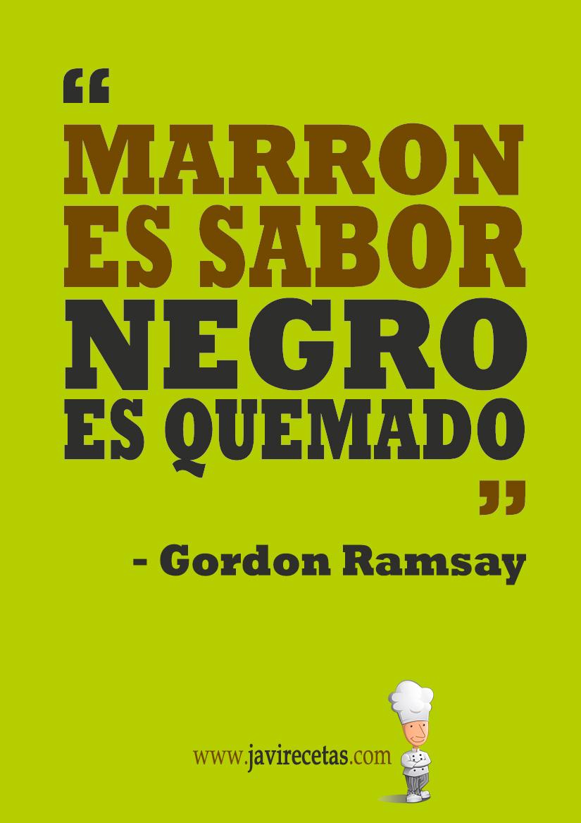 Marrón es Sabor - Negro es Quemado