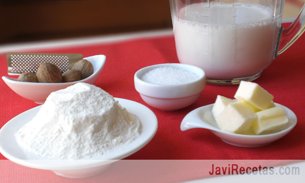 Ingredientes de la Bechamel