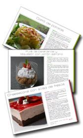 Hojas del libro de recetas