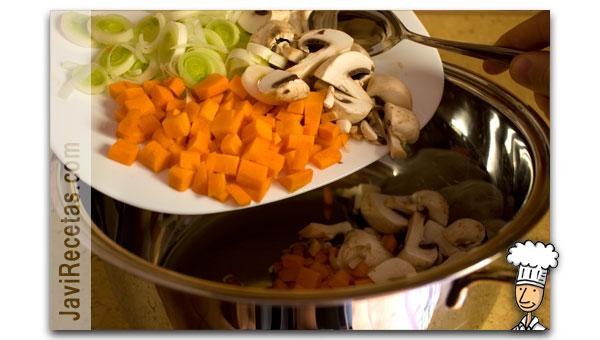 Añadir verduras al Caldo