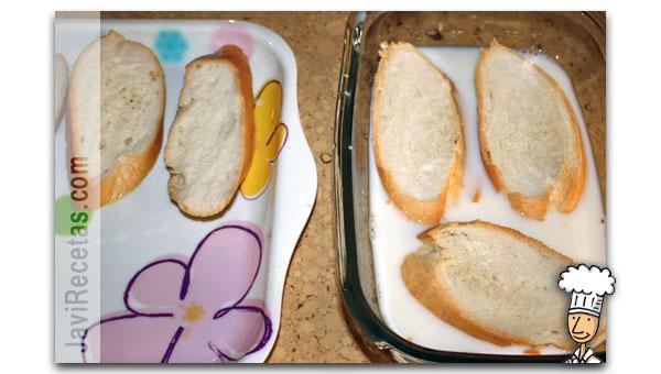 Como hacer torrijas de pan paso 2