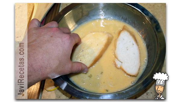 Como hacer torrijas de pan paso 3