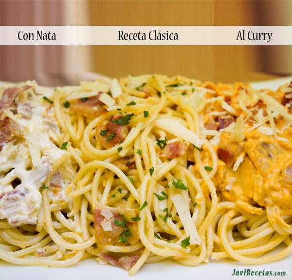A la Carbonara!! Tres recetas a la Carbonara