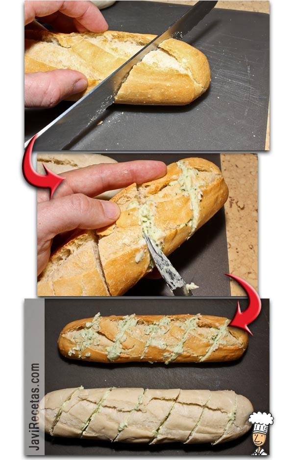 Pan de ajo relleno