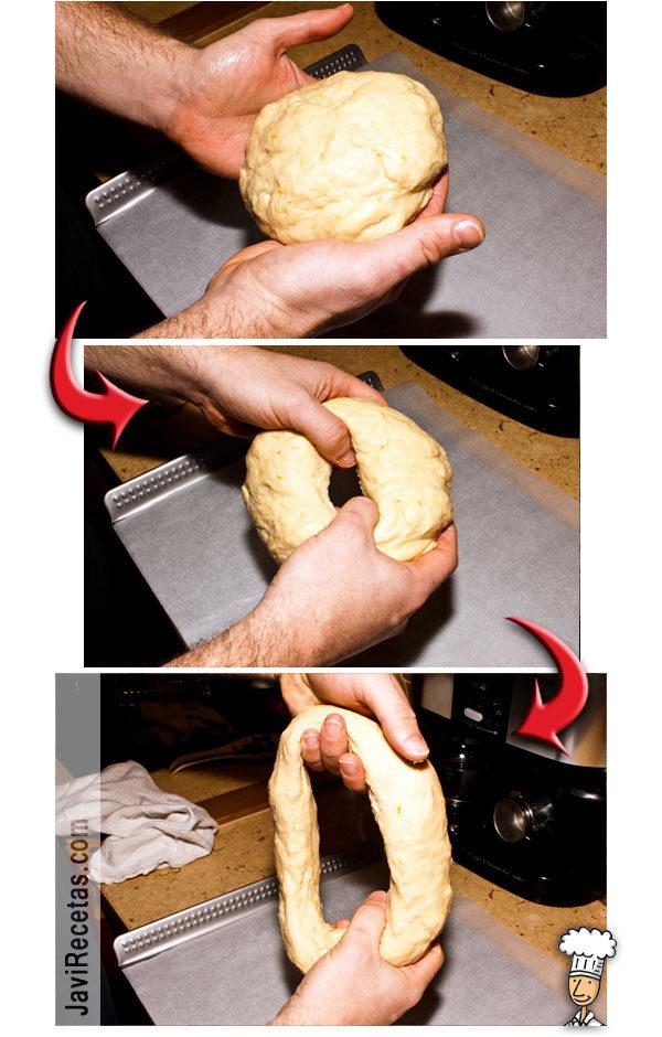 Roscón de Reyes. Receta paso a paso