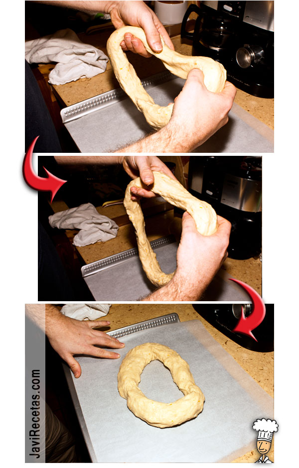 Dando forma al Roscón de Reyes