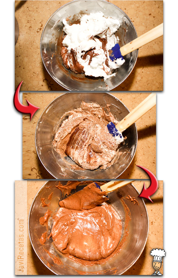 Mousse de Chocolate Negro - Mezclar chocolate y claras