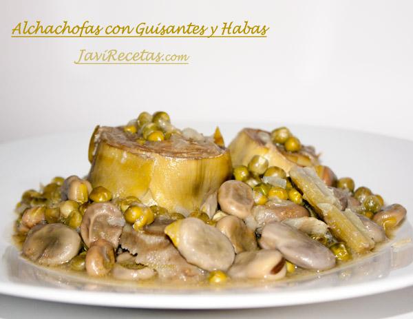 Alcachofas con Guisantes y Habas