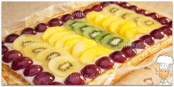 tarta de hojaldre con frutas javi recetas rh javirecetas com