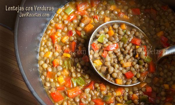 Cocinar Lentejas.Lentejas Con Verduras