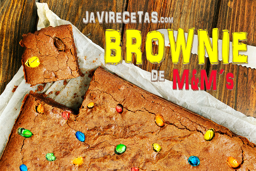 Receta de Brownie de M&M´s