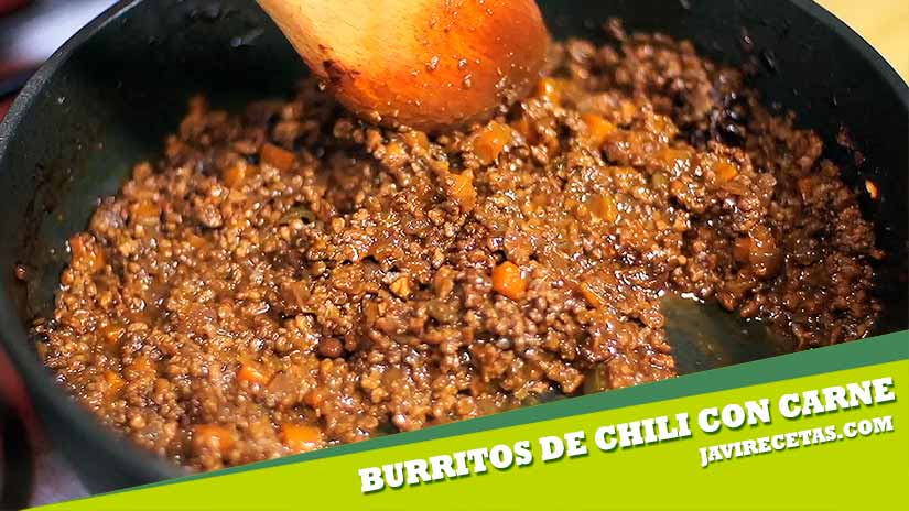 Burritos Mexicanos de Chili con Carne