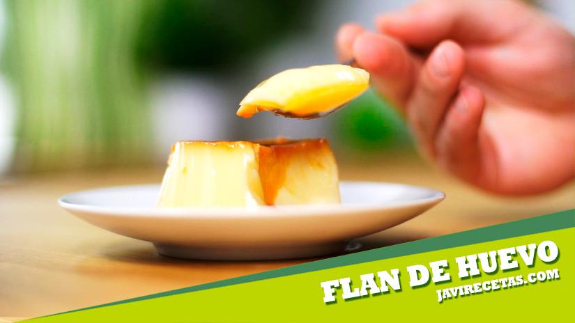 Flan de Huevo. Receta Casera