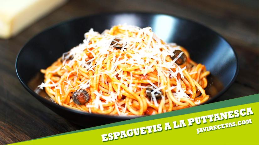 Espaguetis a la Puttanesca o Putanesca