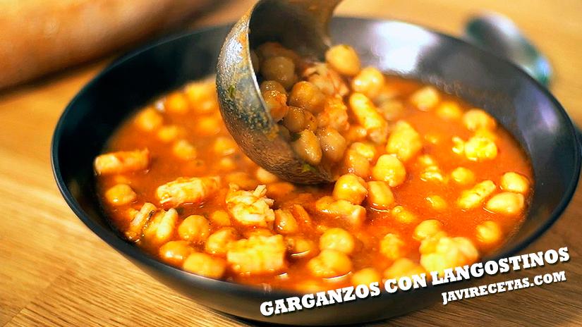 Garbanzos con Langostinos – Receta Gaditana